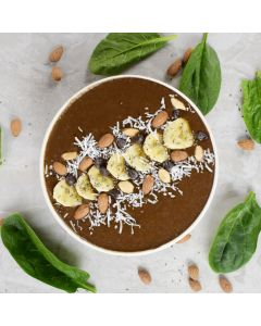 Healthy Banana Almond Smoothie Bowl