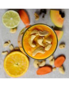 Papaya Carrot Lime Smoothie